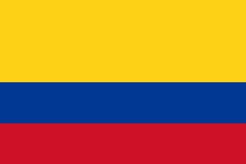 Qualitäts Fahne Flagge Kolumbien 90 x 150 cm mit verstärktem Hissband