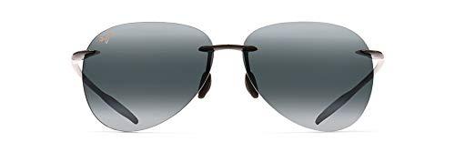 Maui Jim Sugar Beach w/ Patented PolarizedPlus2 Lenses Polarized Lifestyle Sunglasses, Gloss Black/Neutral Grey Polarized, Large
