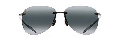 Maui Jim 421-02 Schwarz glänzend Sugar Beach Aviator Sunglasses Polarised Golf, Running, Driving Lens Category 3