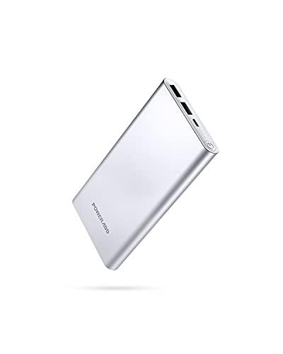 POWERADD Pilot 2GS Powerbank 10000mAh, Externer Akku mit 2 Output 5V/3,1A, Schnellladen Power Bank mit Alugehäuse Handy Ladegerät für iPhone, Samsung Galaxy, Huawei, iPad