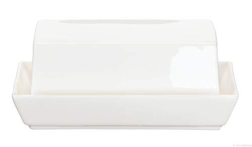 ASA Butterdose, Porzellan, Weiß, 15.7 x 12.8 x 8 cm