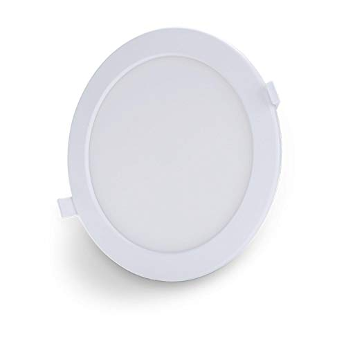 Aigostar Slim Downlight LED inteligente Wifi, 18W, CCT. Regulable de luz cálida a blanca 3000-6500K, 1380lm. Compatible Alexa y Google Home. Foco empotrable: 22 x 3,2 cm alto. [Clase energética A +]
