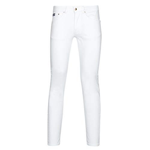 Versace Jeans Couture - Pantalones vaqueros para hombre, color blanco