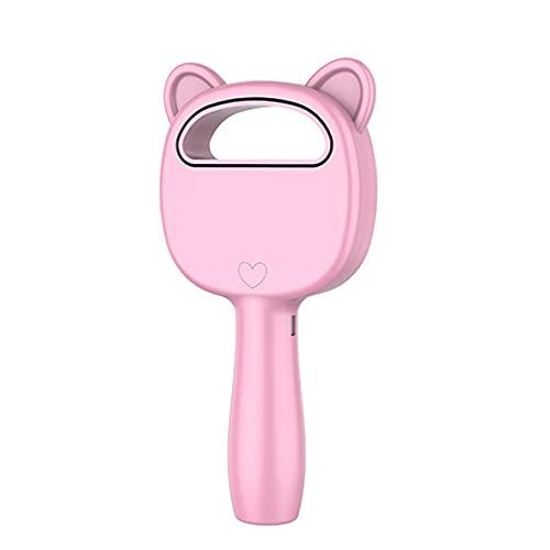 Ventilador eléctrico sin cuchillas de 3 velocidades, mini ventilador de mano con carga USB inalámbrico portátil, mini enfriador de aire de escritorio, ventilador de mano sin hojas (rosa)