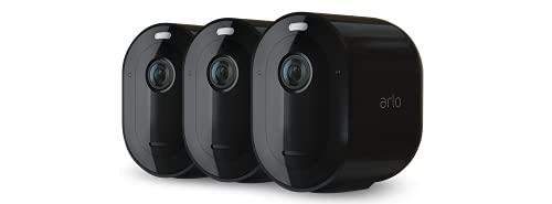 Arlo Pro4 Spotlight WLAN Überwachungskameras   Kabellos, Innen / Aussen, 2K, Farbnachtsicht, Bewegungsmelder, 6 Monate Akku, 2-Wege Audio, direkte WLAN Verbindung, kein Hub benötigt, VMC4350B, Schwarz