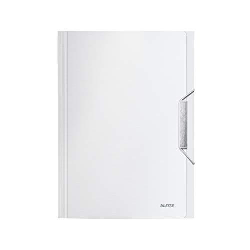 LEITZ 39570004 - Carpeta acordeón STYLE PP con 6 separadores más 1 extra ancho DIN A4 color blanco ártico