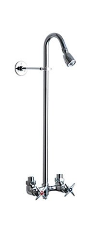 Chicago Faucets 752-CP Exposed Wall Mount Commercial Shower Fitting, Chrome