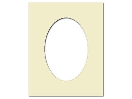 PA Framing, Oval Mat, 11 x 14 inches Frame for 8 x 10 inches Photo Art Size - Cream Core/Ivory