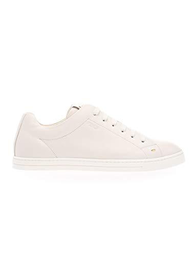 FENDI Luxury Fashion Herren 7E1075NA7F0QVL Weiss Leder Sneakers | Frühling Sommer 20