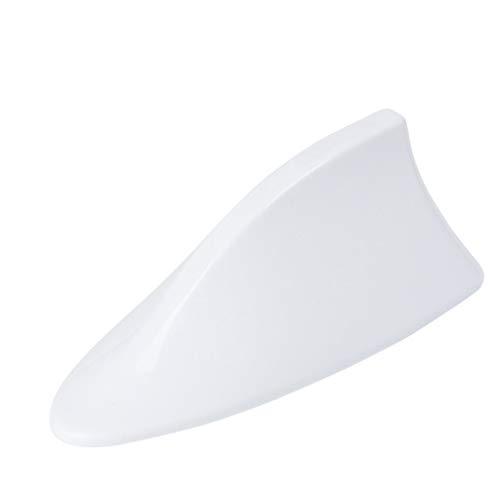 FBGood - Antenna per tettuccio auto, a pinna di squalo, ricezione segnale radio FM AM, con fissaggio bianco