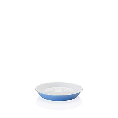 Arzberg Tric Blau Kaffee-Untertasse, Porzellan, Blue, 15.4 x 15.4 x 9 cm