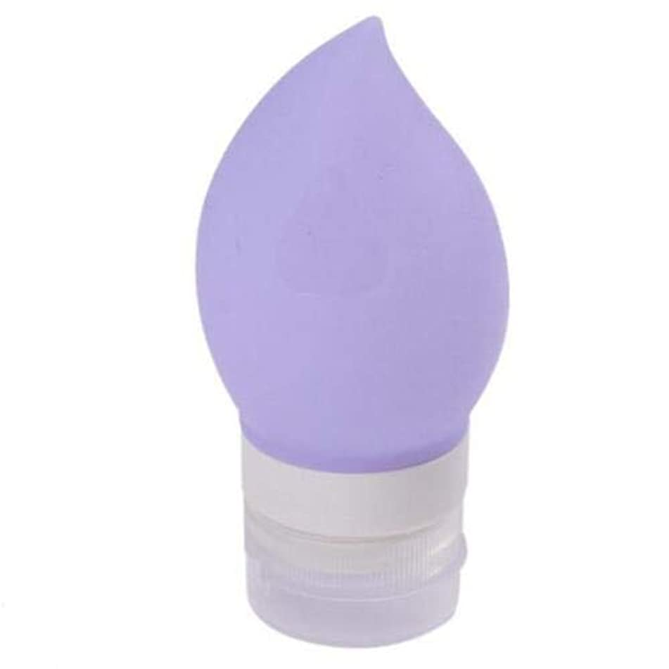Portable Shampoo Gel Lotion Container Silicone Press Bottle For Travel Y (Colors - Purple)