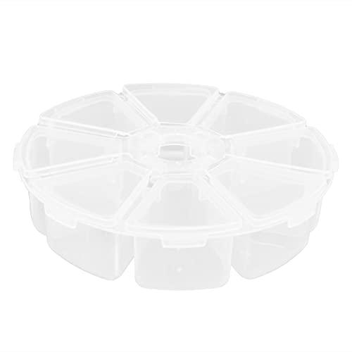 Joyero de 8 Rejillas Material plástico Caja organizadora de plástico Transparente Caja de Almacenamiento de Rejilla múltiple para Vitrina de Regalo Hecha a Mano con Cuentas Sueltas
