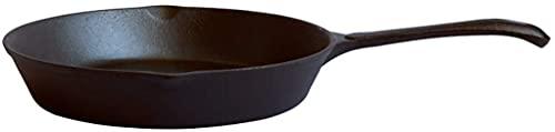 Guuisad 16 cm negro molde de hierro molde Mini sartén desayuno pan para el desayuno Pan de freír especial para el gas (Tamaño: 6.3 pulgadas Larga x 1,2 pulgadas de altura)