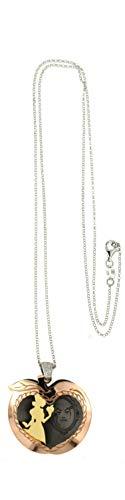 Magicmoon - Fabuloso collar de mujer de plata 925 rodiada con colgante en forma de manzana de la cueva Blancanieves - Mod. VTP10000486