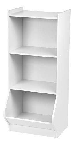 IRIS 3-Tier Storage Organizer Shelf with Footboard, White