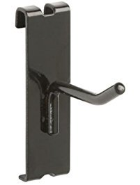 Only Garment Racks 2' Gridwall Hooks for Grid Panel Displays - 25 Pcs Box - 1/4' Dia Wire - Heavy Duty - Black Color