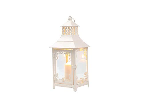 YXZQ Decorative Candle Lanterns 37.5 cm High Vintage Style Hanging Lantern, Metal Candleholder for Indoor Outdoor Events Parities and Weddings