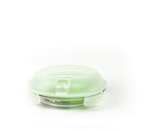 GLASSLOCK (MPCB-080A, 800ml Runde Vorratsdose aus Glas mit Ventil Air Typ - Mikrowellen