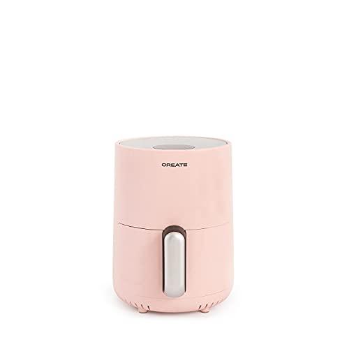 IKOHS IKOFRY Healthy Touch - friggitrice senza olio, ad aria senza olio, capacità 1,5 l, 900 W, cestello antiaderente, 80-200°, spegnimento automatico, senza BPA, programmabile (rosa pastello)