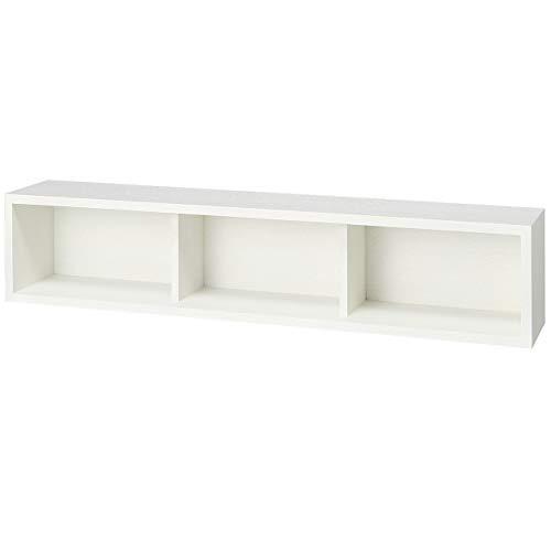 無印良品 壁に付けられる家具・箱・幅88cm・タモ材/ライトグレー 幅88×奥行15.5×高さ19cm 15252350