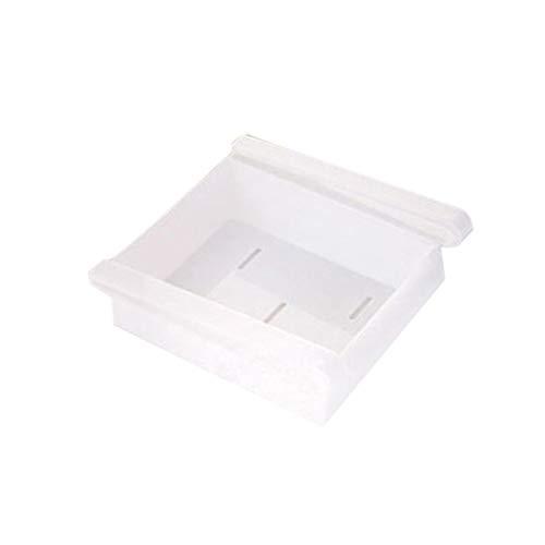 Inicio Refrigerador Caja de Almacenamiento Contenedor de Alimentos Cajón Organizador de clasificación Fresca Blanco