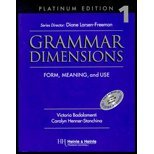 Grammar Dimensions 1, Platinum Edition Text/Audio Tape Package