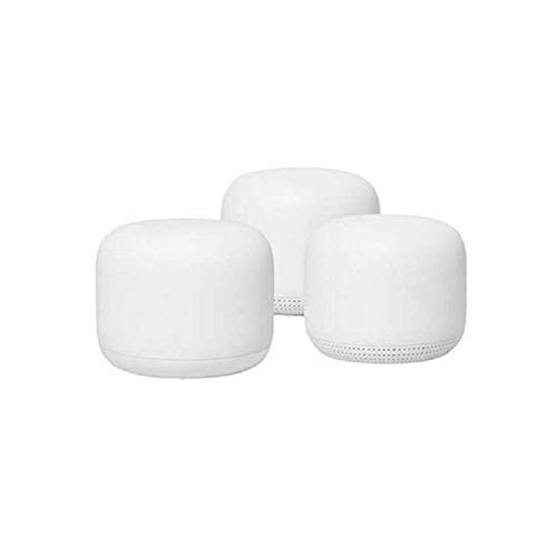 Google Nest WiFi Router 3 Pack ( One Router & Two extenders) 2nd Generation...