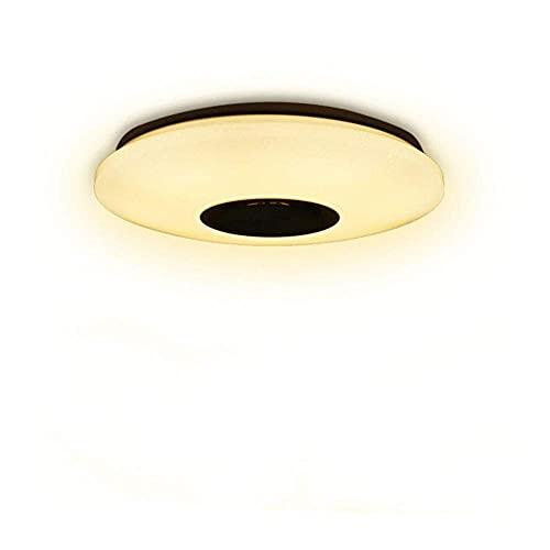 LJWJ Lámparas Lámpara Candelabros Luces de Techo Led Música Colorido Regulable 30Cm Redondo 60W Sala de Estar Dormitorio Altavoz Iluminación