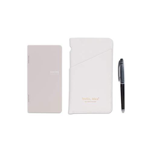 ノーツ・バイ・バタフライボード 消せるボールペン専用マグネット式ノート (ホワイトセット)