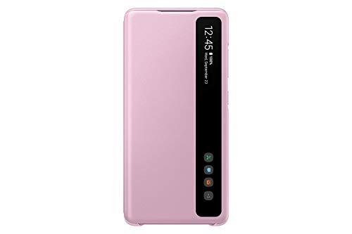 Samsung Clear View Smartphone Cover EF-ZG780 für Galaxy S20 FE Flip Cover, Handy-Hülle, extra-dünn, stoßfest, Schutz Hülle, Lavendel