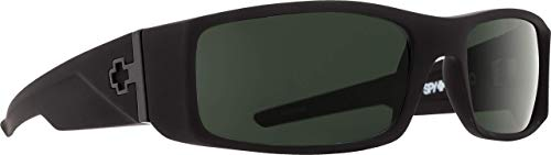 Spy Optic Hielo 670375973863 Sunglasses, 56 mm (Soft Matte Black/Happy Gray/Green)