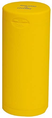 Dreams(ドリームズ) 携帯灰皿 ポケットアッシュトレイ ラバー ハニカム 6本収納 イエロー MDL45118直径3.5×高さ7.8cm