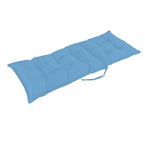GFDDZ Cojines para tumbonas al Aire Libre, cojín de Repuesto para Chaise Longue, cojín Largo reclinable Grueso, Cojines para sillones de jardín, Resistentes