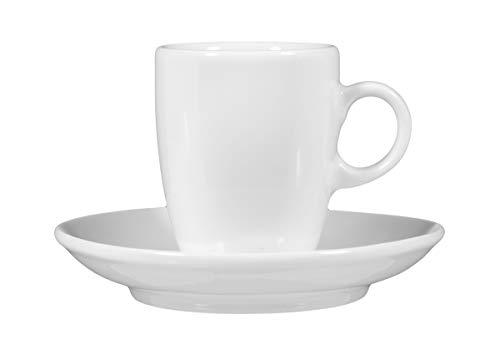 Seltmann Weiden VIP. Espressotasse mit Untertasse (5012), 2-tlg., Tasse, Porzellan, Weiß, 90 ml, Ø 12 cm, 1236824