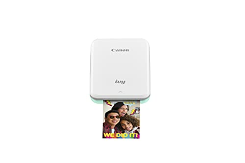 Canon IVY Mini Photo Printer for Smartphones (Mint Green) - Sticky-back prints, Pocket-size