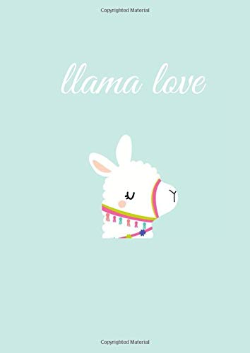 Llama love: Hola Llama Primary Composition Notebook, Lined Notebook Journal, 110 College Ruled Paper, (8.27 x 11.69 inches) A4