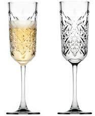 Pasabahce 440356 champagneglas champagneglas Timeless in kristallen design, hoogte ca. 22,5 cm, 17,5 cl, 6-delig van glas