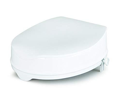 Homecraft Savanah Raised Toilet Seat with Lid, 6' High Elevated Toilet Seat Locks Onto Standard...