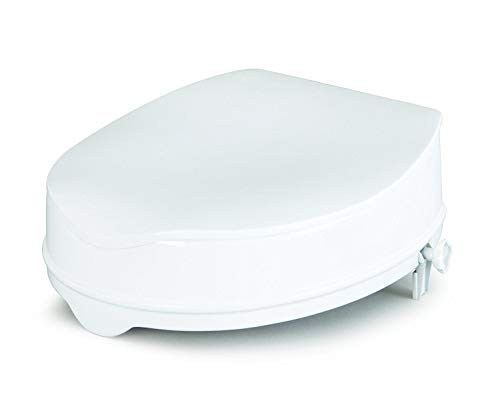 ADLATUS 83175 Toilettensitzerhöhung Savannah mit Deckel, 15 cm