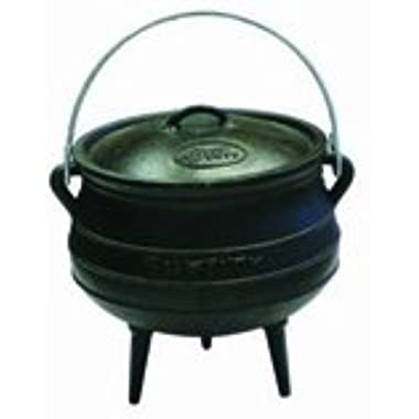 Best Duty Cast Iron Potjie Pot Size 3 - Including Complementary Lid Lifter Knob (Value $9.95)