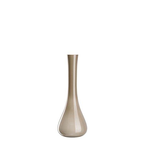 Leonardo Sacchetta Boden-Vase, handgefertigte Deko-Vase, bauchige Blumen-Vase aus beige durchfärbtem Glas, Höhe: 400 mm, 035611