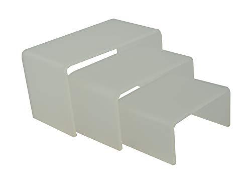 Anillo de 3 piezas de acrílico con diseño de zócalos y gemelos, pulsera de joyería (roto, número de soportes, 3)