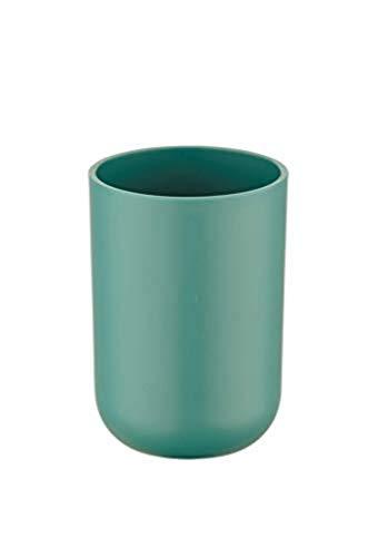 Wenko Bicchiere da denti Brasile, Infrangibile, TPE, Ø 7,5 x 10,5 cm, verde, 7,3 x 7,3 x 10,3 cm