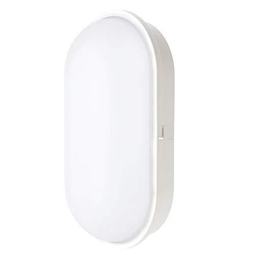 Chestele Lampada da Parete LED Moderna Impermeabile ovale 20W 3000K IP65 Illuminazione Per Esterni e Interni - Bianco [Classe di Efficienza Energetica A+]