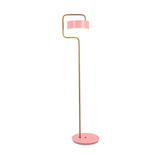 Home Equipment Lámpara de pie Lámpara de pie Lámpara de pie de lectura de hierro forjado rosa Lámpara nórdica simple y moderna Dormitorio Lámpara de pie de poste alto que cuida los ojos - Iluminaci