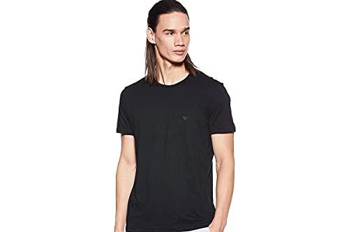 Emporio Armani Men's Cotton Crew Neck T-Shirt, 3-Pack, Black, Small