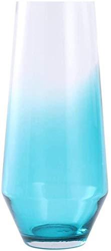 Vases Planta hidropónica de cristal hecha a mano con gradiente azul que se puede colocar en el armario de TV, hogar, oficina, boda y accesorios para el hogar