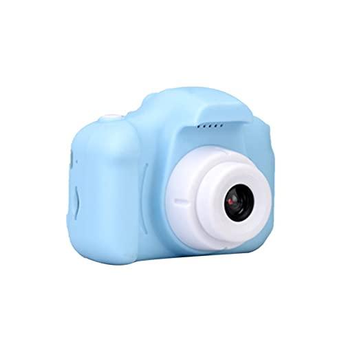QiKun-Home Mini juguete de dibujos animados de niño puede tomar fotos de la cámara digital de los niños dibujos animados mini juguete profesional moda azul