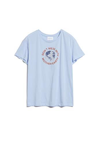 ARMEDANGELS NELAA Mother Earth - Damen T-Shirt aus Bio-Baumwolle M Pure Blue Shirts T-Shirt Loose fit